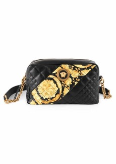 Versace Icon Barocco Stripe Quilted Leather Camera Bag