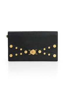 Versace Icon Leather Evening Clutch