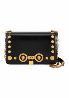 Versace Icon Medium Calf Leather Crossbody Bag with Medusa Studs