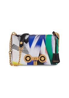 Versace Icon Medium Clash-Print Crossbody Bag