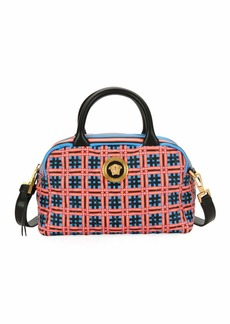 Versace Icon Quilted Clash Satchel Bag