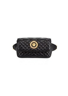 Versace Icon Quilted Lather Micro Belt Bag