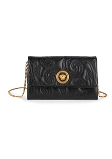 Versace Icon Quilted Leather Clutch