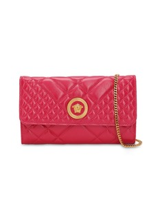 Versace Icon Quilted Patent Leather Shoulder Bag