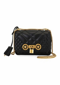 Versace Icon Small Quilted Napa Leather Crossbody Bag with Medusa Detail