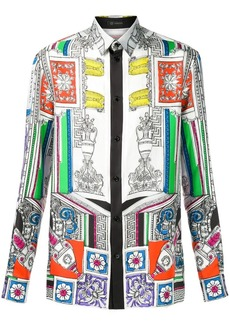 Versace Il Tempio printed shirt