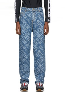 Versace Indigo Baggy Jeans