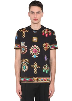 Versace Jewelry Print Cotton Jersey T-shirt