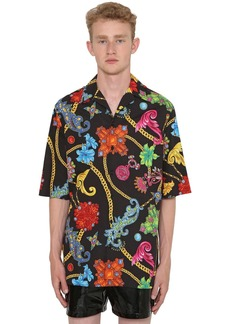 Versace Jewerly Printed Cotton Bowling Shirt