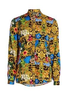 Versace Jungle Baroque Collared Shirt