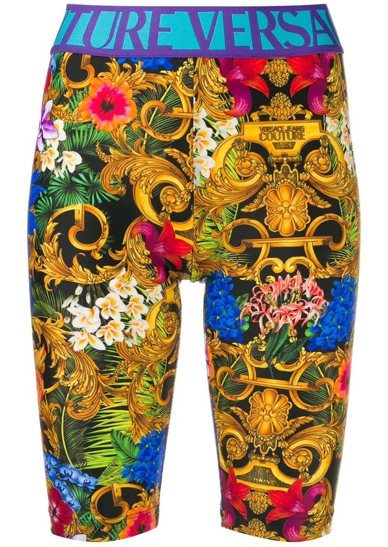 Versace jungle print shorts