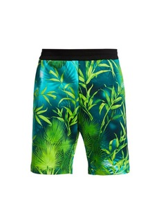 Versace Jungle-Print Shorts