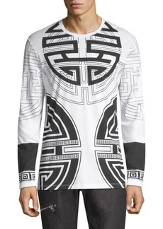 Versace Girocollo Circle-Print Cotton Tee