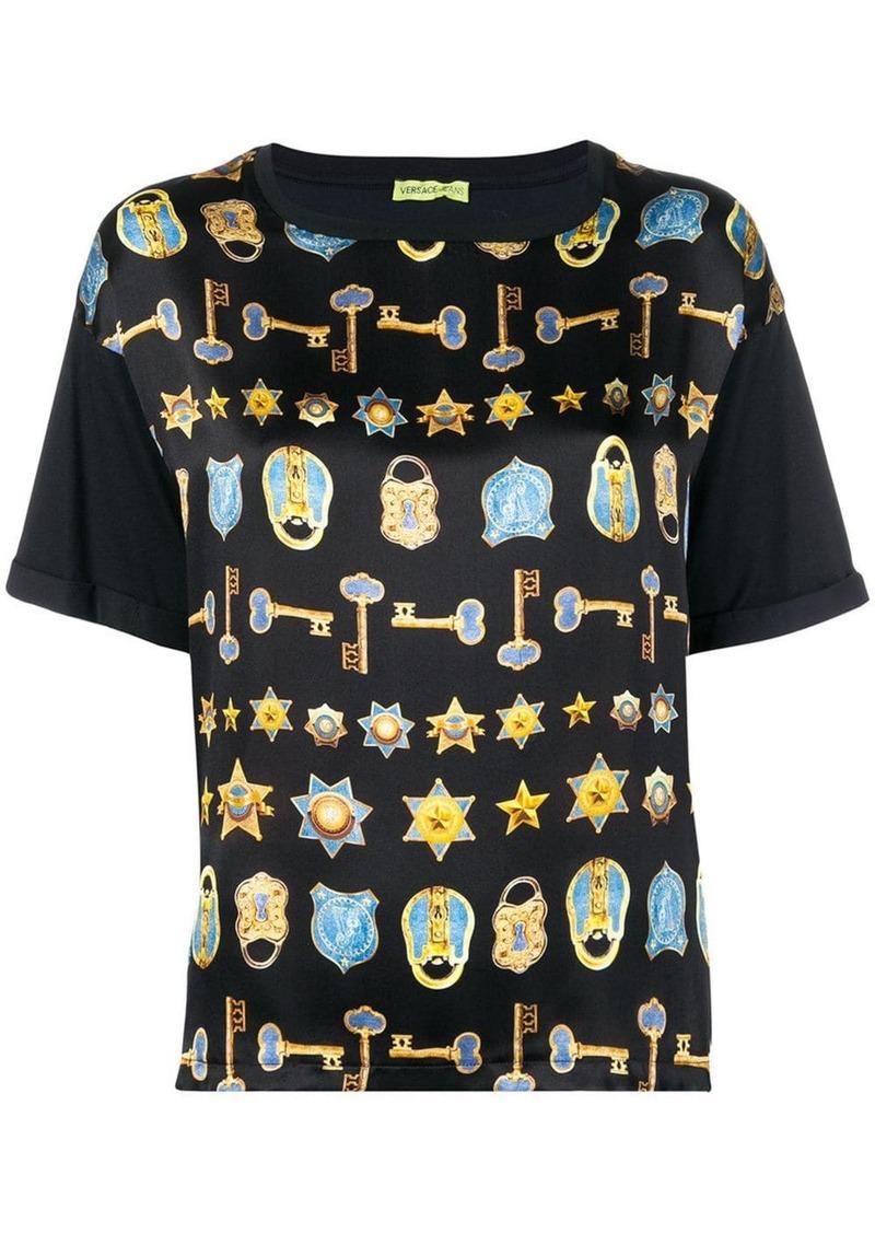 Versace key & padlock print T-shirt