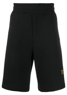 Versace knee length glitter logo shorts