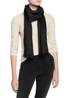 Versace Knit Wool-Blend Scarf