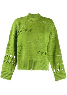 Versace knitted cut-out jumper