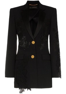 Versace lace-panelled blazer