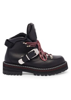 Versace Lace-Up Buckle Leather Boots