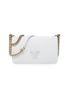 Versace Lamb Leather Shoulder Bag with Medusa Head