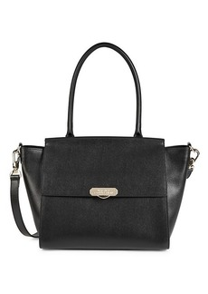 Versace Large Winged Leather Satchel