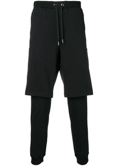 Versace layered track shorts and pants
