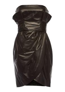 Versace Leather Bandeau Dress