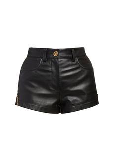 Versace Leather Mini Shorts