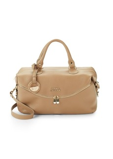 Versace Leather Top Handle Bag