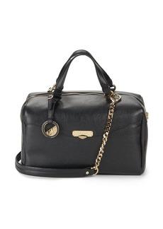 Versace Leather Top-Handle Satchel