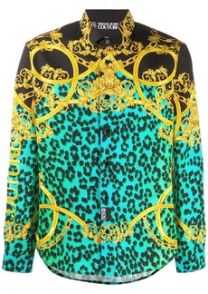 Versace Leo Chain-print cotton shirt