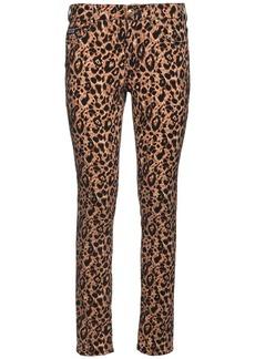 Versace Leo Print Stretch Denim Skinny Jeans