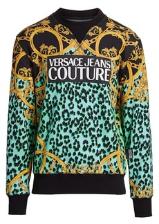 Versace Leopard Baroque-Print Pullover