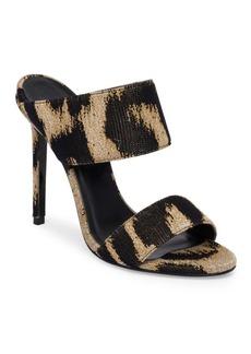 Versace Leopard Mules