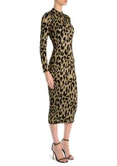 Versace Leopard Print Bodycon Dress