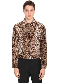 Versace Leopard Print Faux Fur Casual Jacket