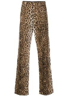 Versace leopard print jeans