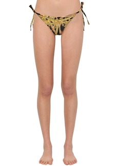 Versace Leopard Print Lycra Bikini Bottoms