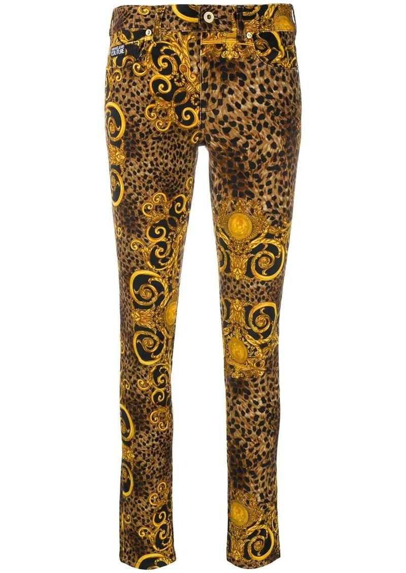 Versace leopard print skinny jeans