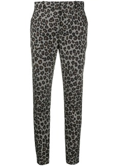 Versace leopard print tailored trousers
