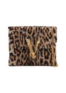 Versace Leopard Printed Shoulder Bag