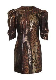 Versace Leopard short dress