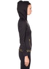 Versace Logo Band Cotton Sweatshirt Hoodie