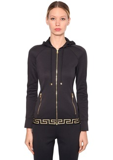 Versace Logo Band Cotton Sweatshirt Hoodie