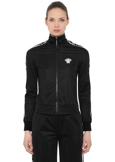 Versace Logo Bands Zip-up Jersey Track Jacket