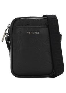 Versace Logo Baroque Leather Camera Bag
