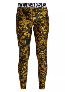 Versace Logo Baroque Leggings