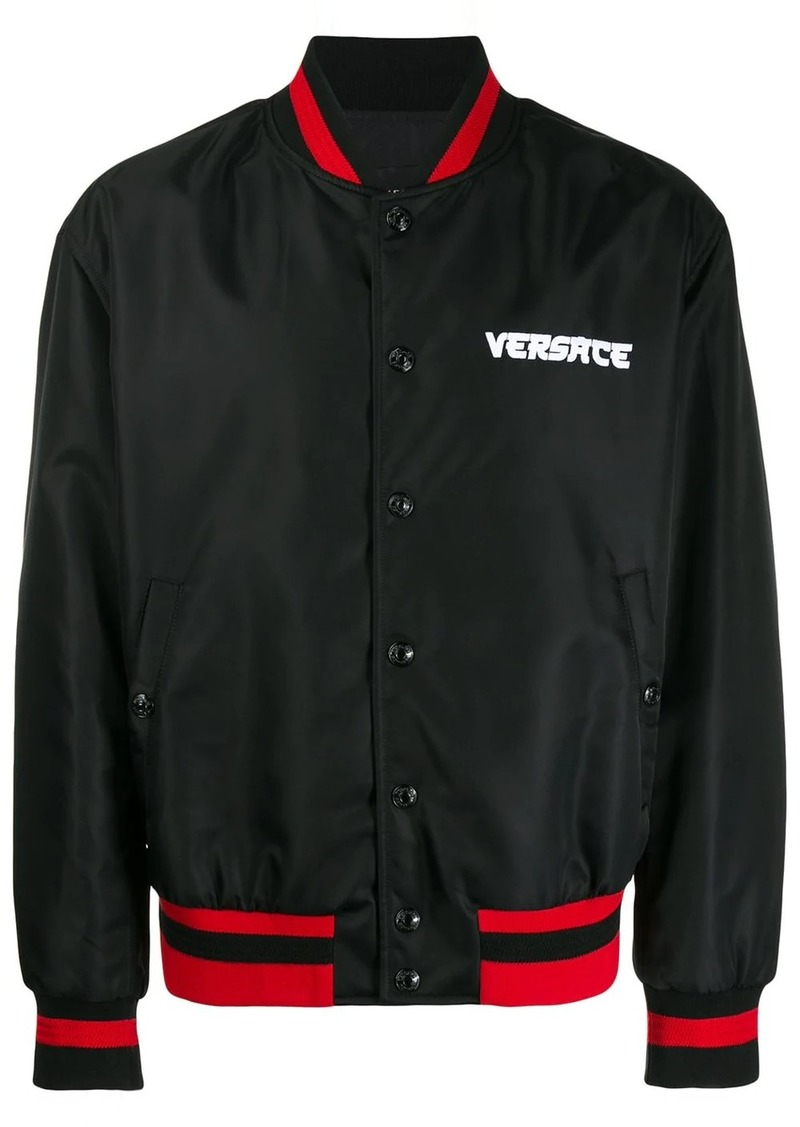 Versace embroidered Medusa bomber jacket
