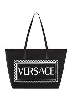 Versace Logo Canvas Tote Bag