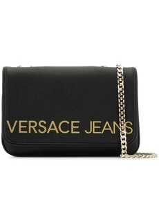 Versace logo chain shoulder bag